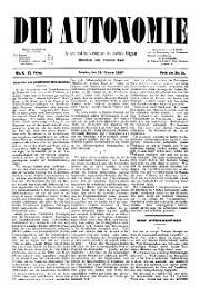 02. Jg. Nr. 006 / 15.01.1887 Die Autonomie London