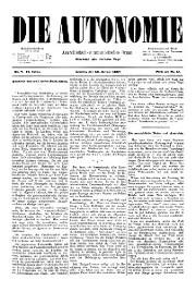 02. Jg. Nr. 007 / 29.01.1887 Die Autonomie London