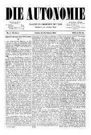 02. Jg. Nr. 008 / 12.02.1887 Die Autonomie London
