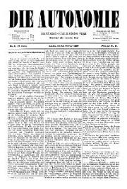 02. Jg. Nr. 009 / 26.02.1887 Die Autonomie London