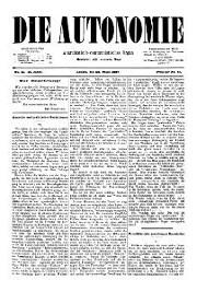 02. Jg. Nr. 011 / 26.03.1887 Die Autonomie London