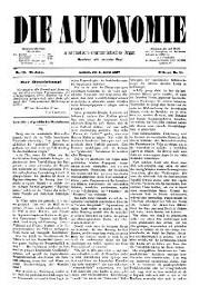 02. Jg. Nr. 012 / 09.04.1887 Die Autonomie London