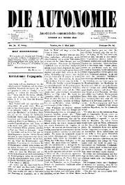 02. Jg. Nr. 014 / 07.05.1887 Die Autonomie London
