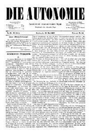 02. Jg. Nr. 015 / 21.05.1887 Die Autonomie London