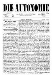02. Jg. Nr. 017 / 18.06.1887 Die Autonomie London