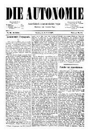 02. Jg. Nr. 018 / 02.07.1887 Die Autonomie London