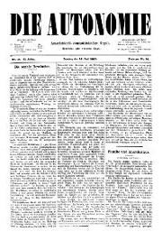 02. Jg. Nr. 019 / 16.07.1887 Die Autonomie London