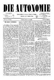 02. Jg. Nr. 020 / 30.07.1887 Die Autonomie London