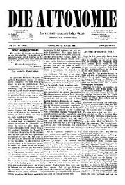 02. Jg. Nr. 021 / 13.08.1887 Die Autonomie London