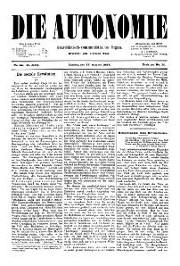 02. Jg. Nr. 022 / 27.08.1887 Die Autonomie London