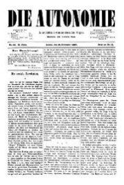 02. Jg. Nr. 023 / 10.09.1887 Die Autonomie London