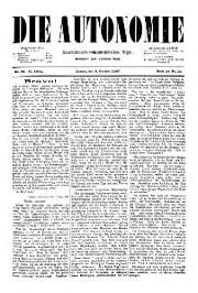 02. Jg. Nr. 025 / 08.10.1887 Die Autonomie London