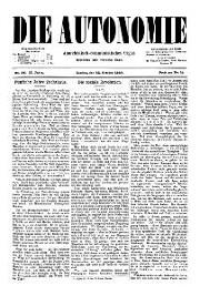 02. Jg. Nr. 026 / 22.10.1887 Die Autonomie London