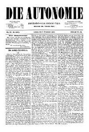 02. Jg. Nr. 027 / 05.11.1887 Die Autonomie London
