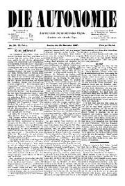 02. Jg. Nr. 028 / 19.11.1887 Die Autonomie London