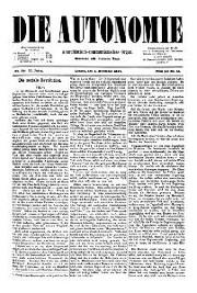 02. Jg. Nr. 029 / 03.12.1887 Die Autonomie London