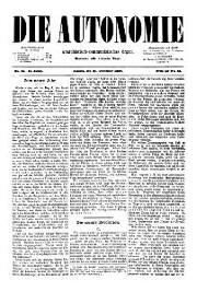 02. Jg. Nr. 031 / 31.12.1887 Die Autonomie London