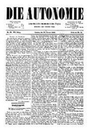03. Jg. Nr. 032 / 14.01.1888 Die Autonomie London