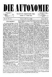 03. Jg. Nr. 033 / 28.01.1888 Die Autonomie London