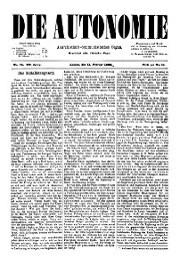 03. Jg. Nr. 034 / 11.02.1888 Die Autonomie London