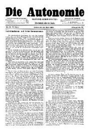 05. Jg. Nr. 091 / 29.03.1890 Die Autonomie London