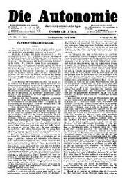 05. Jg. Nr. 092 / 12.04.1890 Die Autonomie London