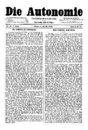05. Jg. Nr. 094 / 10.05.1890 Die Autonomie London