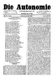 05. Jg. Nr. 095 / 24.05.1890 Die Autonomie London