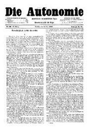 05. Jg. Nr. 096 / 07.06.1890 Die Autonomie London