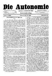 05. Jg. Nr. 097 / 21.06.1890 Die Autonomie London