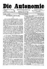 05. Jg. Nr. 098 / 05.07.1890 Die Autonomie London