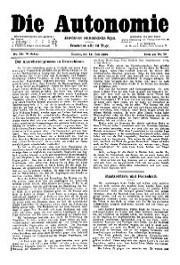 05. Jg. Nr. 099 / 19.07.1890 Die Autonomie London