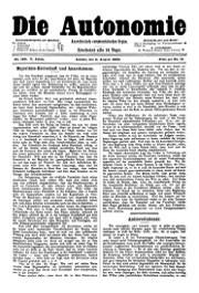 05. Jg. Nr. 100 / 02.08.1890 Die Autonomie London