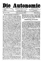 05. Jg. Nr. 101 / 14.08.1890 Die Autonomie London