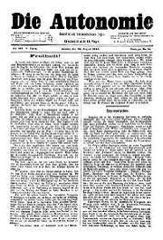05. Jg. Nr. 102 / 30.08.1890 Die Autonomie London