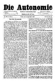 05. Jg. Nr. 103 / 13.09.1890 Die Autonomie London