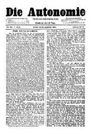 05. Jg. Nr. 104 / 27.09.1890 Die Autonomie London