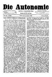 05. Jg. Nr. 105 / 11.10.1890 Die Autonomie London