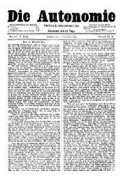 05. Jg. Nr. 107 / 08.11.1890 Die Autonomie London