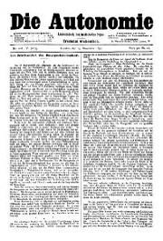 05. Jg. Nr. 108 / 15.11.1890 Die Autonomie London