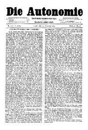 05. Jg. Nr. 110 / 29.11.1890 Die Autonomie London