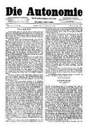 05. Jg. Nr. 112 / 13.12.1890 Die Autonomie London