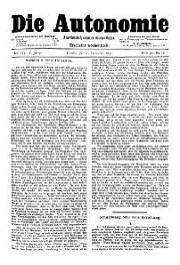 05. Jg. Nr. 113 / 20.12.1890 Die Autonomie London