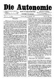05. Jg. Nr. 114 / 27.12.1890 Die Autonomie London
