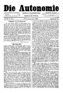 05. Jahrgang 1890 Die Autonomie London