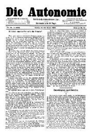 05. Jg. Nr. 086 / 18.01.1890 Die Autonomie London