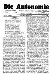 05. Jg. Nr. 087 / 01.02.1890 Die Autonomie London