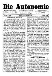 05. Jg. Nr. 088 / 15.02.1890 Die Autonomie London
