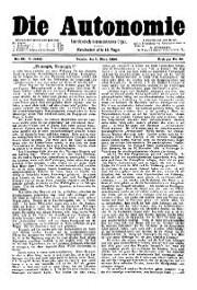 05. Jg. Nr. 089 / 01.03.1890 Die Autonomie London