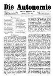 05. Jg. Nr. 090 / 15.03.1890 Die Autonomie London